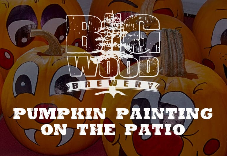 Pumpkin Painting on the Patio - Big Wood Brewery